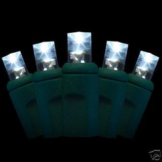 20 LED Christmas mini lights   bright white   5mm conical bulbs