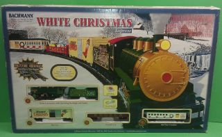 BACHMANN WHITE CHRISTMAS EXPRESS HO SCALE TRAIN SET W/BOX EXCELLENT