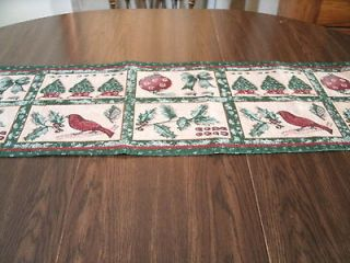 CHRISTMAS TREES AND HOLLY* TAPESTRY TABLE RUNNER