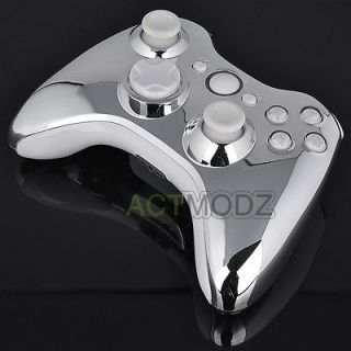 chrome xbox 360 controller shell in Replacement Parts & Tools