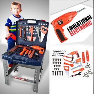 Tool Set Childrens Toy Workshop Boys Kids Pretend Play Bench Learning