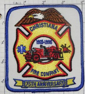 DELAWARE, CHRISTIANA FIRE COMPANY ANNIVERSARY PATCH