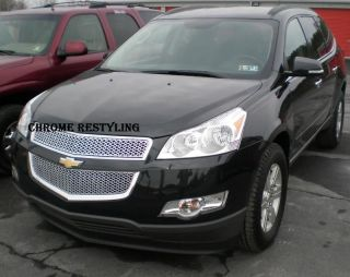 CHEVY TRAVERSE CHROME OVERLAY GRILLE FITS 2009 2011 UPPER & LOWER