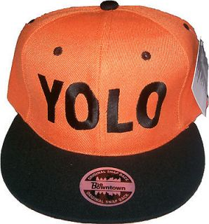 Vintage Style YOLO You Only Live Once Snapback Hat Hip Urban Swag Many