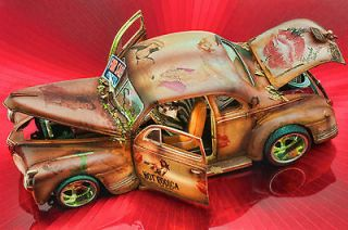 41 PLYMOUTH PIN UP RAT ROD ULTRA DETAILED CUSTOM BUILT 1/18 SCALE