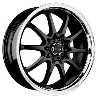 17 DRAG DR9 BLACK WHEELS RIMS DODGE NEON INTREPID TALON