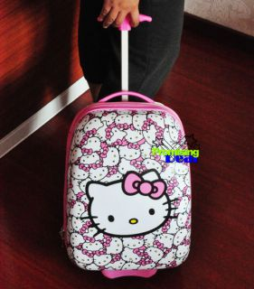 Hello Kitty Children Luggage Baggage Trolley Roller Christmas Gifts