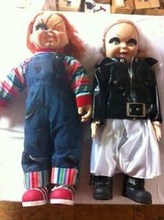 CHUCKY & TIFFANY BRIDE OF CHUCKY DOLL SET OFFICALLY LICENSED EXCLUSIVE