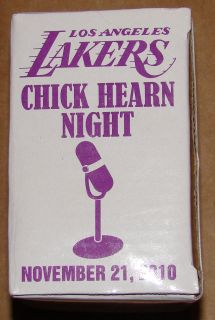 LAKERS CHICK HEARN LASER ETCHED CRYSTAL GLASS COMMEMORATIVE