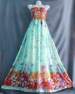 maxi floral chiffon dresses