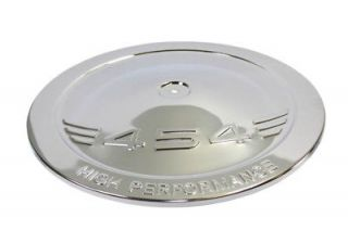 Chrome Steel 14 Air Cleaner Lid Only With 454 Logo BB Chevy Hot Rod