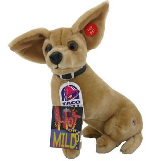 WITH TAGS 11 Authentic Taco Bell Chihuahua Talking Plush Dog Toy CUTE