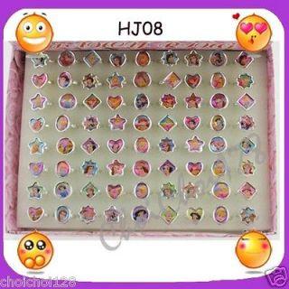 Lots   72pcs x Disney Princess Fancy Ring Box Set for Kids Party HJ08