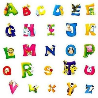 Alphabet & Animals Removable Wall Stickers Decals Decor Nursery Kids