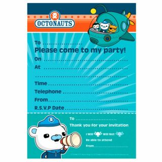 20 Octonauts Party Adventure Captain Barnacles Party Invitations plus