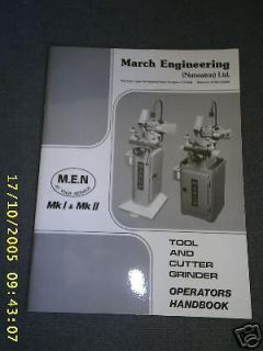 MARCH CLARKSON TOOL AND CUTTER GRINDER MANUAL