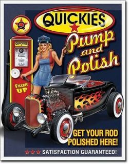 CLASSIC VINTAGE TIN SIGN HOT RAT ROD FORD COUPE ROADSTER RETRO DEUCE