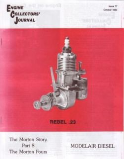 Morton M4 M 42 Modelair Rebel Diesel Engine Collectors Journal 1984