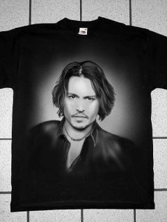 Airbrushed Portrait of Johnny Depp T Shirt in all sizes