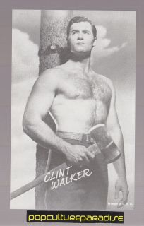 CLINT WALKER Actor 1960s Exhibit Arcade PICTURE CARD