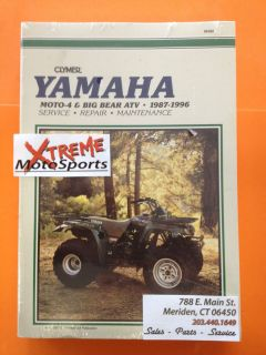 Clymer Service Manual Yamaha Moto 4 Big Bear ATV 1987 1996 NOS