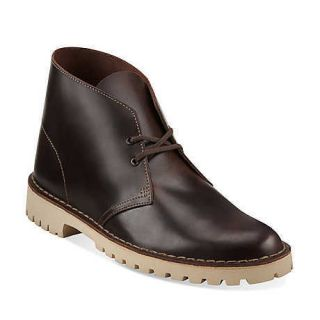 NEW IN BOX CLARKS Mens Desert Trooper Originals Ankle Boots Brown