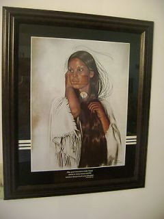 PENNI ANN CROSS VINTAGE 1981 PRINT/22 X 19/SIGNED NATIVE /SOUTHWESTERN