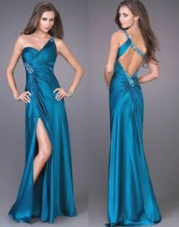 Shoulder Cocktail Formal Homecoming Bridesmaid Prom Dresses Ball Gown