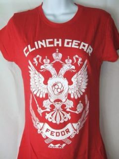 Fedor Emelianenko Red Womens MMA T shirt FREE SHIPPING