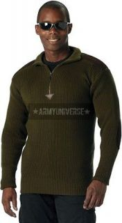Olive Drab Military 1/4 Zip Up Tactical Commando Sweater