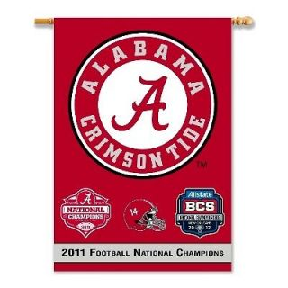 2011 BCS FOOTBALL NATIONAL CHAMPIONS ALABAMA CRIMSON TIDE BANNER FLAG