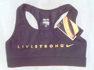 Yellow NIKE Womens Pro Combat LIVESTRONG Sports Bra Extra Small (XS