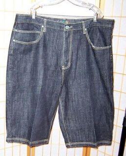 Coogi Dark Indigo Blue Hip Hop Denim Shorts 44 x 15