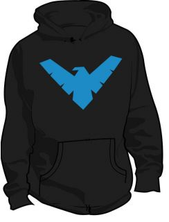 NIGHTWING DC COMICS SUPERHERO HOODIE ALL SIZES & COLOURS
