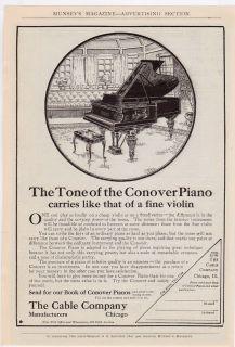 CONOVER Model Baby GRAND PIANO Vintage 1906 Antique REPRINT