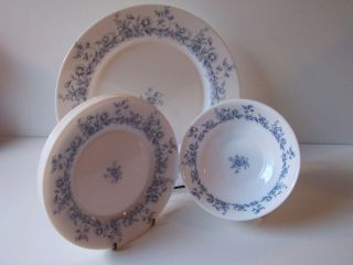 Arcopal France Glenwood 6pc Mixed Lot Set Dinner Salad Plates Cereal