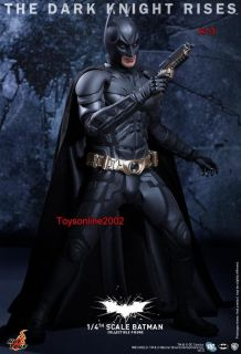 HOT TOYS 1/4 The Dark Knight Rises Batman BRUCE WAYNE Collectible
