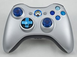 DROP SHOT MODDED CONTROLLER XBOX 360 JITTER MOD RAPID FIRE CHROME/BLUE