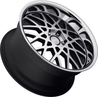 20 CONCEPT ONE RS 22 WHEELS STAGGERED MATTE BLACK MACHINED W/ SS LIP
