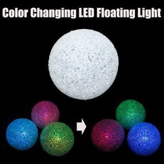 Pool Decoration Crystal Ball Color Change water Floating LED Light