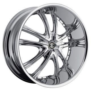 NO21 Chrome Wheels Rims 6x5.5 Avalanche Silverado Suburban Canyon