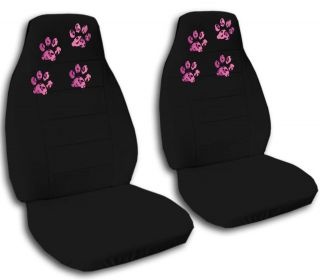 ford fiesta seat covers W leopard paw prints FR+RR+ AB