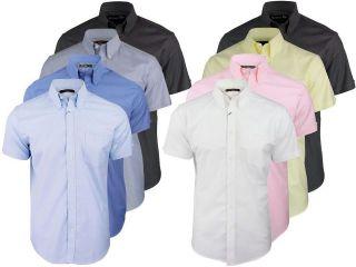Mens Ben Sherman Classic Eton Oxford Shirt Plain Short Sleeves