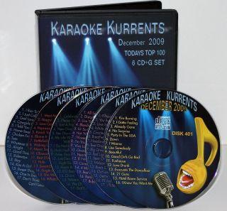 KARAOKE KURRENTS THE BEST OF Dec2009 CD+G top pop w/Lady Gaga,Pitbull