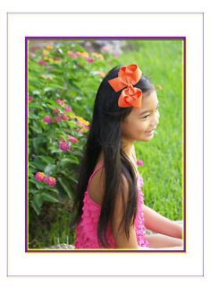 Lot 5  Large 5, Girls/Toddler Boutique Hair Bows, Custom made hairbow