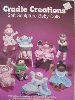 SOFT SCULPTURE DOLL Patterns 10 Cradle Creations NEW