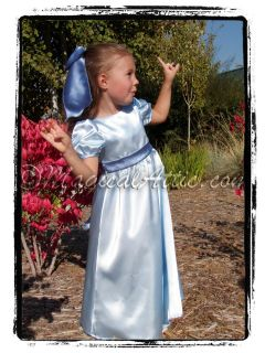 Boutique Christmas Peter Pan WENDY Darling Blue Costume Girls Dress