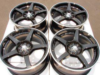 4x100 Black Wheels Ford Focus Civic Integra Cougar Fiesta 4 Lug Rims