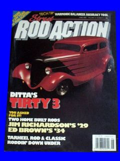 ROD ACTION JUNE 1994,1937 CHEVY COUPE,1933 FORD VICTORIA,HOT MAGAZINE