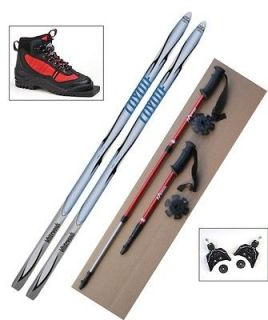 NEW Kids 75mm Cross Country SKIS/BINDINGS/BOOTS/POLES   140cm  No Wax